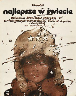 """Oryginalny plakat filmowy do polskiego filmu """"Najlepsze w świecie"""". Reżyseria: Stanisław Jędryka. Plakat z 1976 r. Projekt: WALDEMAR ŚWIERZY"""