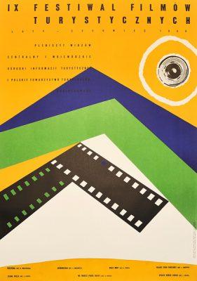 Plakat reklamujący IX Festiwal Filmów Turystycznych