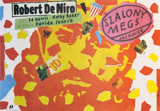 """Plakat filmowy do filmu amerykańskiego """"Szalony Megs"""". Reżyseria David Jones. Projekt plakatu: LECH MAJEWSKI"""