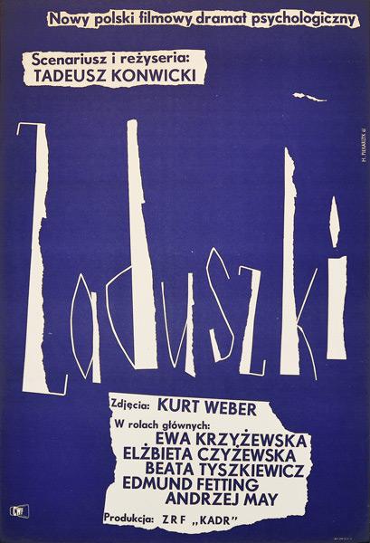 """Plakat filmowy do filmu polskiego """"Zaduszki"""". Reżyseria Tadeusz Konwicki. Projekt plakatu: HALINA PIEKARCZYK"""