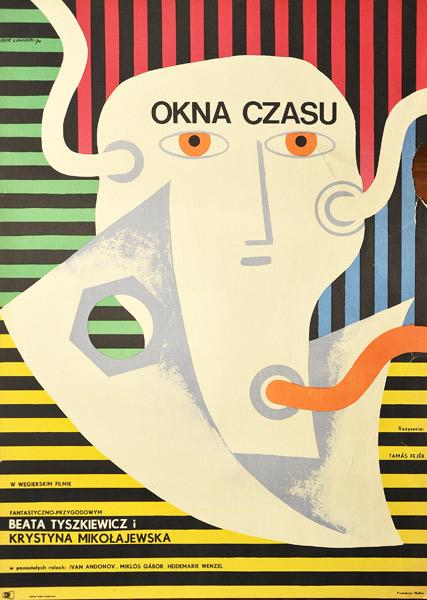 """Plakat filmowy do węgierskiego filmu """"Okna czasu"""". Reżyseria: Tamas Fejer. Projekt: ERYK LIPIŃSKI"""