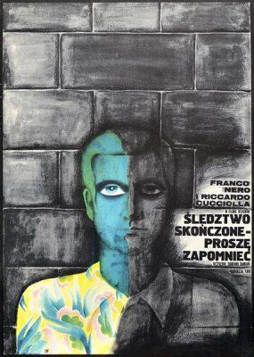 """Oryginalny polski plakat filmowy do włoskiego filmu """"Śledztwo skończone"""