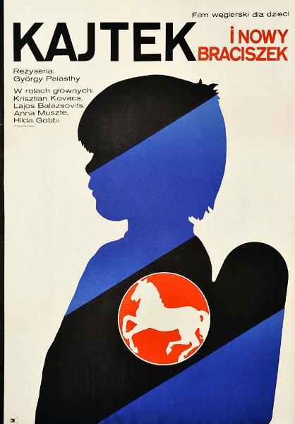 """Plakat filmowy do węgierskiego filmu dla dzieci """"Kajtek i nowy braciszek"""". Reżyseria: Gyorgy Palasthy. Projekt: JAKUB EROL"""