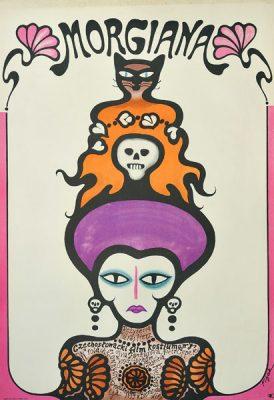 """Plakat filmowy do czechosłowackiego filmu kostiumowego """"Morgiana"""". Reżyseria: Juraj Herz. Projekt: JERZY FLISAK"""