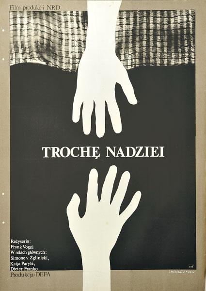 """Plakat filmowy do niemieckiego filmu """"Trochę nadziei"""". Reżyseria: Frank Vogel. Projekt: JACEK NEUGEBAUER"""