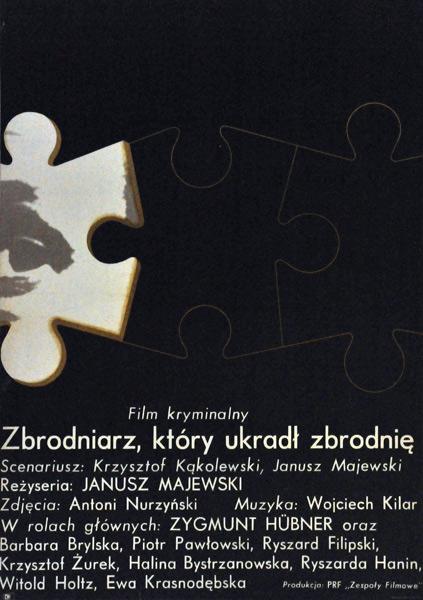 """Plakat filmowy do polskiego filmu partyzanckiego """"Zbrodniarz"""