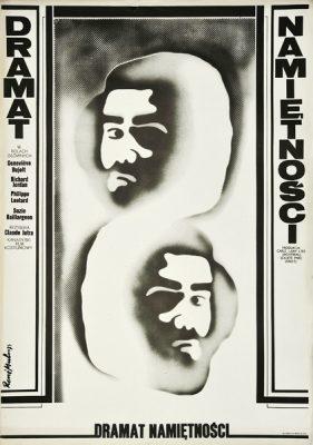 """Plakat filmowy do kanadyjskiego filmu """"Dramat namiętności"""". Reżyseria: Claude Jutra. Projekt plakatu: RENE MULAS"""