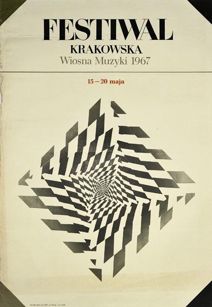 Plakat Festiwalu Krakowska Wiosna Muzyki