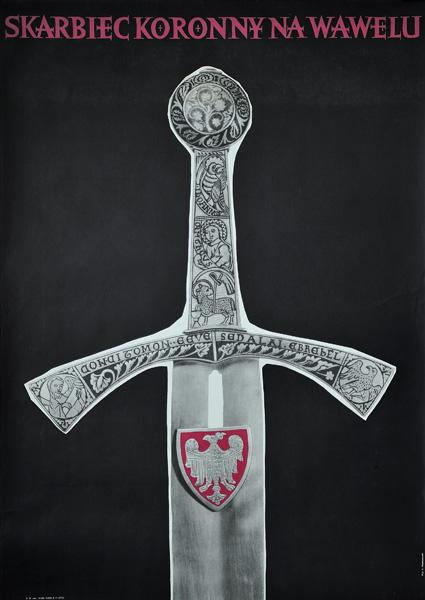 Plakat reklamujący Skarbiec Koronny na Wawelu