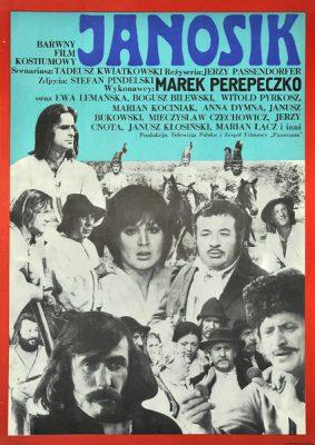 """Plakat filmowy do polskiego filmu """"Janosik"""". Reżyseria: Jerzy Passendorfer. Projekt plakatu: ANDRZEJ KRAJEWSKI"""