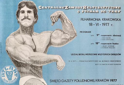 Plakat reklamujący Centralne Zawody Kulturystyczne