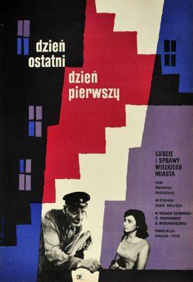 """Oryginalny polski plakat filmowy do gruzińskiego filmu """"Dzień ostatni"""