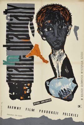 """Oryginalny polski plakat filmowy do polskiego filmu """"Małe dramaty"""". Reżyseria: Janusz Nasfeter. Projekt plakatu: A. ŁOBODZIŃSKI"""