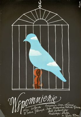 """Plakat filmowy do bułgarskiego filmu """"Wspomnienie"""". Reżyseria: Iwan Niczew. Projekt: JERZY FLISAK"""
