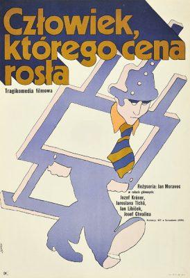 """Oryginalny polski plakat filmowy do czechosłowackiego filmu """"Człowiek"""