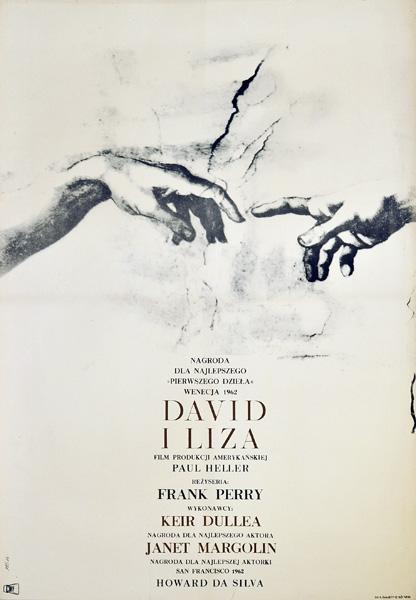 """Plakat filmowy do amerykańskiego filmu """"David i Liza"""". Reżyseria: Frank Perry. Projekt: MAREK FREUDENREICH"""