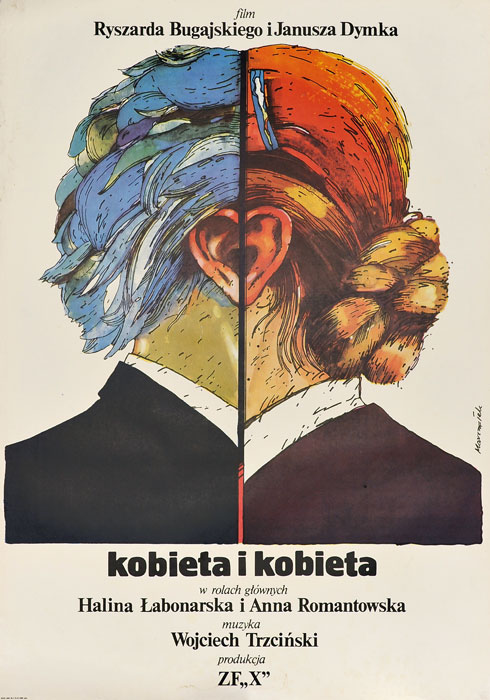 """Oryginalny polski plakat filmowy do polskiego filmu """"Kobieta i kobieta"""". Reżyseria: Ryszard Bugajski"""