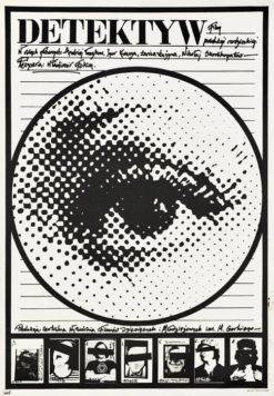 """Oryginalny polski plakat filmowy do radzieckiego filmu """"Detektyw"""". Reżyseria: Vladimir Fokin. Projekt plakatu: JAKUB EROL"""