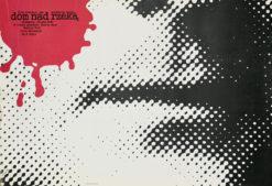 """Oryginalny polski plakat filmowy do niemieckiego filmu """"Dom nad rzeką"""". Reżyseria: Roland Graf. Projekt plakatu: ANDRZEJ NOWACZYK"""
