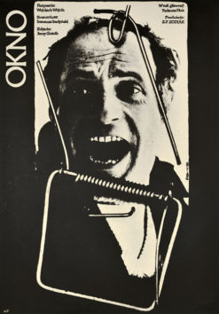 """Oryginalny polski plakat filmowy do polskiego filmu """"Okno"""". Reżyseria: Wojciech Wójcik. Projekt plakatu: JAKUB EROL"""