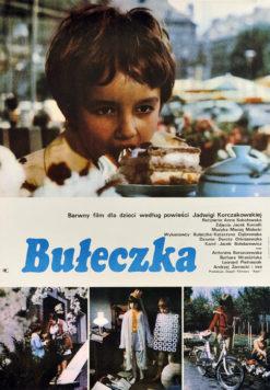 """Oryginalny polski plakat filmowy do polskiego filmu """"Bułeczka"""". Reżyseria: Anna Sokołowska. Projekt plakatu: niesygnowany"""