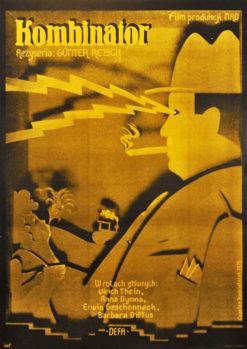 """Oryginalny polski plakat filmowy do niemieckiego filmu """"Kombinator"""". Reżyseria: Gunther Reisch. Projekt plakatu: CYPRIAN KOŚCIELNIAK"""