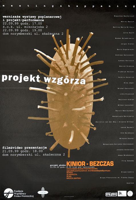"""Oryginalny polski plakat do wydarzenia """"Projekt wzgórza"""". Projekt plakatu: MICHAŁ JANDURA"""