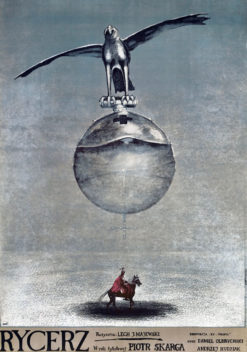 """Oryginalny polski plakat filmowy do polskiego filmu """"Rycerz"""". Reżyseria: Lech Majewski. Projekt plakatu: ANDRZEJ PĄGOWSKI"""