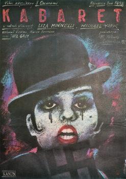 """Oryginalny polski plakat filmowy do filmu amerykańskiego """"Kabaret"""""""