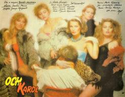"""Oryginalny polski plakat filmowy do polskiej komedii """"Och Karol"""". Reżyseria Roman Załuski; Jan Piechociński w roli głównej. Projekt: 1985."""