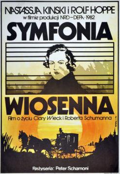 """Oryginalny polski plakat filmowy do filmu niemieckiego """"Symfonia wiosenna"""" (mały format). Reżyseria: Peter Schamoni. Projekt: JAKUB EROL"""