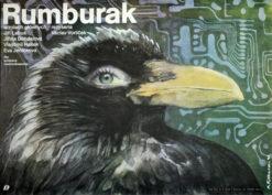 """Oryginalny polski plakat filmowy do filmu czechosłowackiego """"Rumburak"""" (mały format). Reżyseria: Vaclav Vorlicek. Projekt: MICHAŁ PIEKARSKI"""