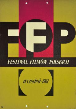 Oryginalny polski plakat reklamujący Festiwal Filmów Polskich