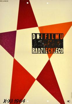 Oryginalny polski plakat reklamujący Dni Filmu Radzieckiego X - XI 1964 (mały format). Projekt plakatu: ERYK LIPIŃSKI