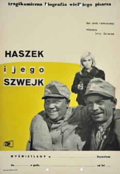 """Oryginalny polski plakat filmowy do radzieckiego filmu """"Haszek i jego Szwejk"""". Reżyseria: Jurij Ozierow. Projekt: niesygnowany"""