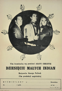 "Original Polish movie poster for English film: ""Dziesięciu małych Indian"". Directed by George Pollock. Designed by unknown artist around 1968."