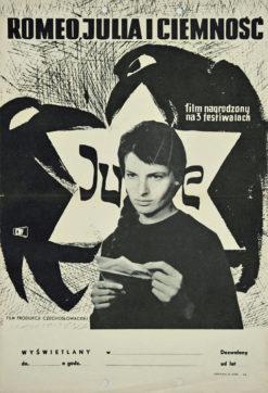 """Oryginalny polski polski plakat filmowy do czechosłowackiego filmu """"Romeo"""