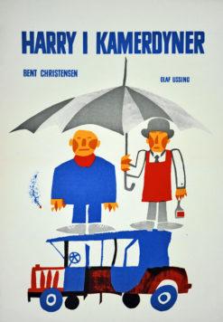 "Oryginalny polski plakat filmowy do duńskiego filmu ""Harry i kamerdyner"". Reżyseria: Bent Christensen. Projekt: MARIAN STACHURSKI"