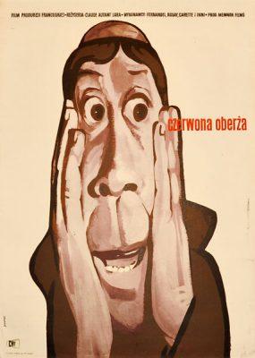 """Plakat filmowy do francuskiego filmu """"Czerwona oberża"""". Reżyseria: Claude Autant Lara. Projekt: WALDEMAR ŚWIERZY"""