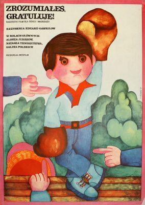"""Oryginalny plakat filmowy do radzieckiego filmu dla dzieci """"Zrozumiałeś"""