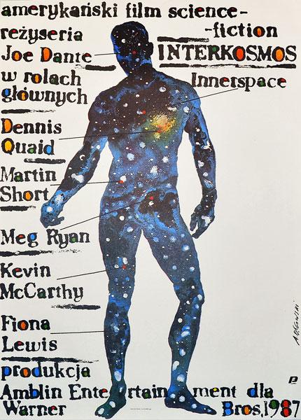 """Oryginalny polski plakat filmowy do amerykańskiego filmu """"Interkosmos"""". Reżyseria: Joe Dante. Projekt: ANDRZEJ PĄGOWSKI"""