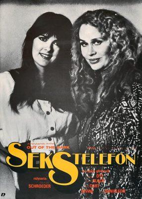 """Plakat filmowy do amarykańskiego filmu """"Sekstelefon"""". Reżyseria: Michael Schroeder. Projekt: MACIEJ KAŁKUS (?)"""