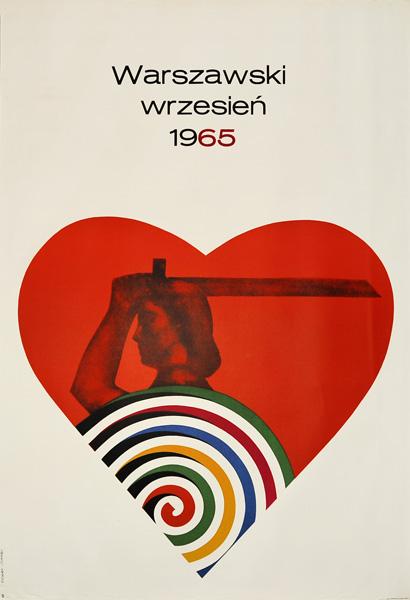 """Oryginalny polski plakat """"Warszawski wrzesień 1965"""". Projekt: ROSŁAW SZAYBO"""