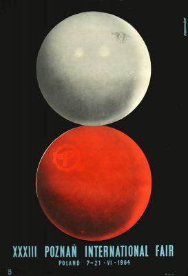Oryginalny polski plakat reklamujący XXXIII Międzynarodowe Targi Poznańskie