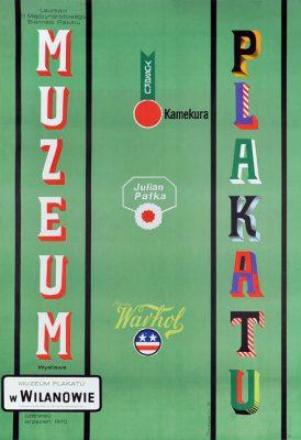 Oryginalny polski plakat przedstawiający laureatów II Międzynarodowego Biennale Plakatu 1970. Projekt plakatu: HENRYK TOMASZEWSKI