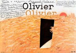 """Oryginalny polski plakat filmowy do francuskiego filmu """"Olivier"""