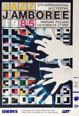 Oryginalny polski plakat muzyczny 27th International Jazz Festival Jazz Jamboree