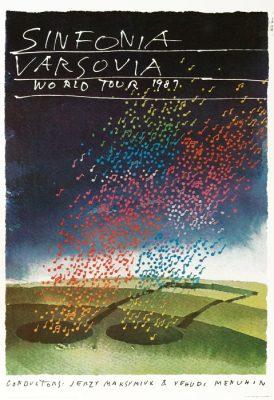 Oryginalny polski plakat muzyczny Sinfonia Varsovia