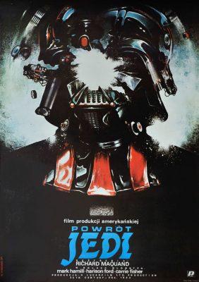 Oryginalny polski plakat filmowy do filmu amerykańskiego z serii Gwiezdne wojny (Star Wars)