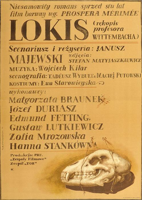 "Oryginalny polski plakat filmowy do filmu polskego ""Lokis"""